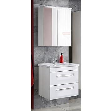 Lomadox Badezimmer Waschplatz Set 60 Cm Mit Keramik Waschtisch