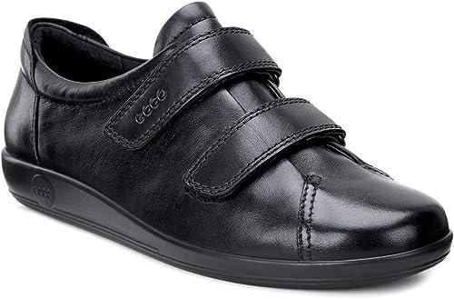 Ecco 2017 Ecco Schuhe weiß Leder Klettverschluss