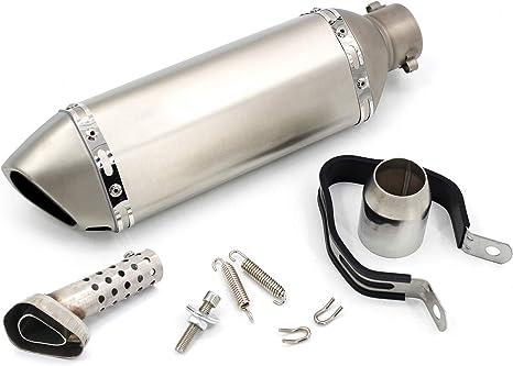 Senyar Exhaust Muffler Pipe,Universal 38-51mm Stainless Steel Modified Slip-on Fit for Motorcycle Dirt Bike