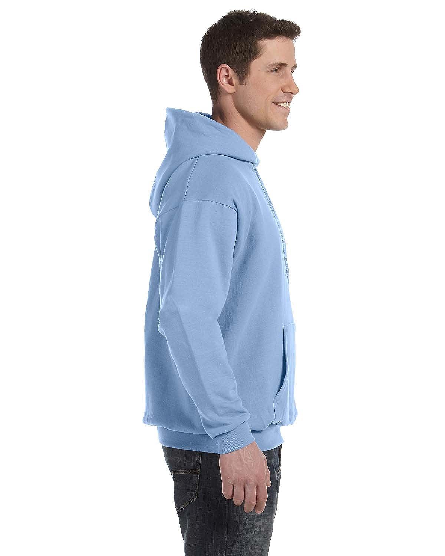 Hanes Mens EcoSmart Hooded Sweatshirt Small 1 Cardinal 1 Light Blue