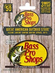 Give a Bass Pro Shops Gift Card to your favorite outdoor enthusiast. Gift Cards can be redeemed for online purchases, catalog orders, and purchases made at Bass Pro Shops retail stores.