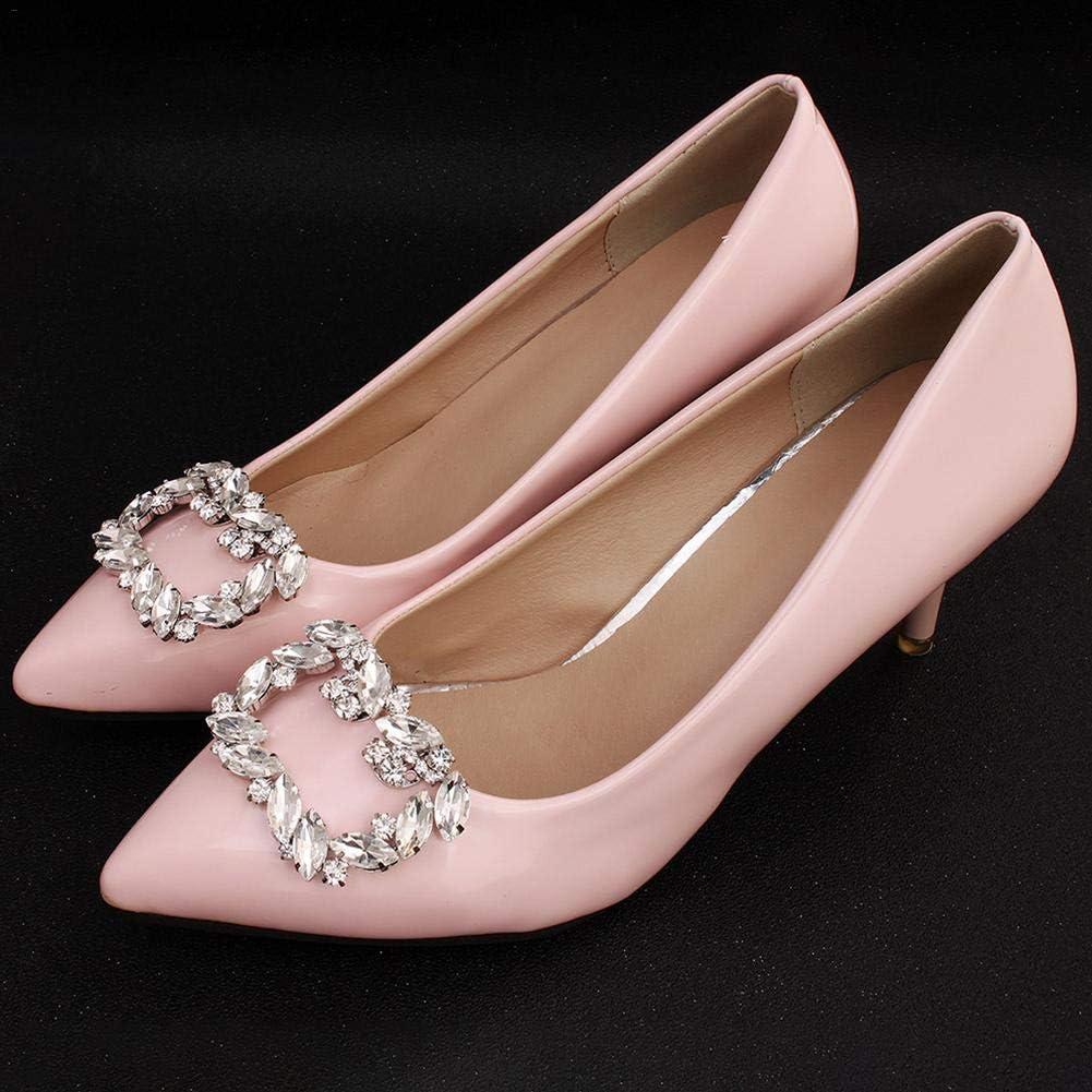 ZFXXN 2PCSRhinestone Boucle de Chaussure Clips de Chaussures d/écoratifs Accessoires d/écorations de Chaussures en m/étal Strass carr/és