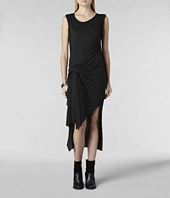 9584df2a8270 Allsaints Riviera Jersey Dress Charcoal Marl Colour Size 4 New Tags (SIZE  4)  Amazon.co.uk  Clothing