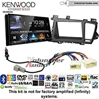 Volunteer Audio Kenwood DDX9904S Double Din Radio Install Kit with Apple CarPlay Android Auto Bluetooth Fits 2011-2013 Kia Optima