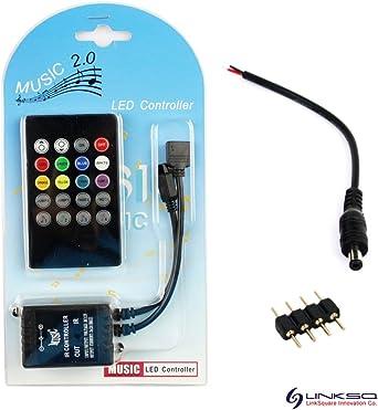 20 Tasten Musik IR Controller Sound Sensor-Fernbedienung für RGB LED-Streif