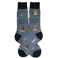 Foot Traffic, Men's Wacky Novelty Socks, Fits Men's Shoe Sizes 7-12