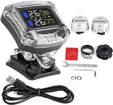 Motorrad Wasserdichter Tpms Sensor Motorrad Tpms Reifendruckkontrolle Mit 2 Externen Sensoren Auto