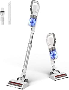 APOSEN Cordless Vacuum, 21Kpa 4-in-1 Stick Handheld Vacuum Cleaner Brushless Motor with Upgraded Cyclone HEPA Filtration, Lightweight Quiet Vacuum for Deep Cleaning Hard Floor Carpet Pet Hair - H21