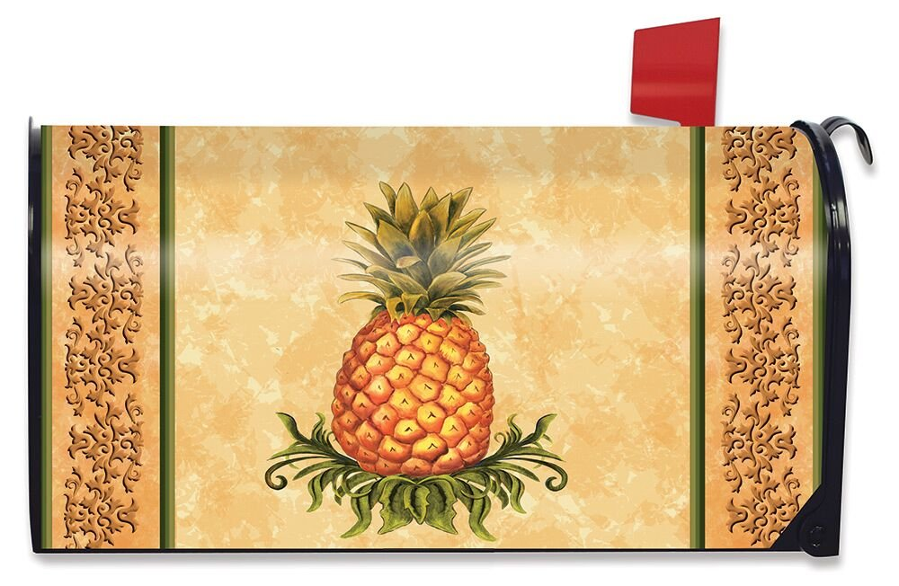 Briarwood Lane Pineapple Fruit Everday Magnetic Mailbox Cover Standard