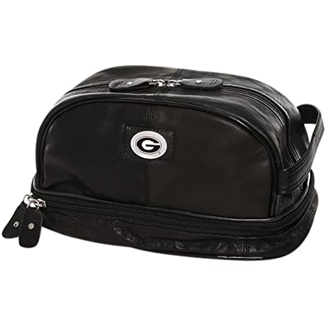 09422a130bb9 MTC Marketing NCAA Georgia Bulldogs Deluxe Bottom-Zip Black Leather Shave  Kit