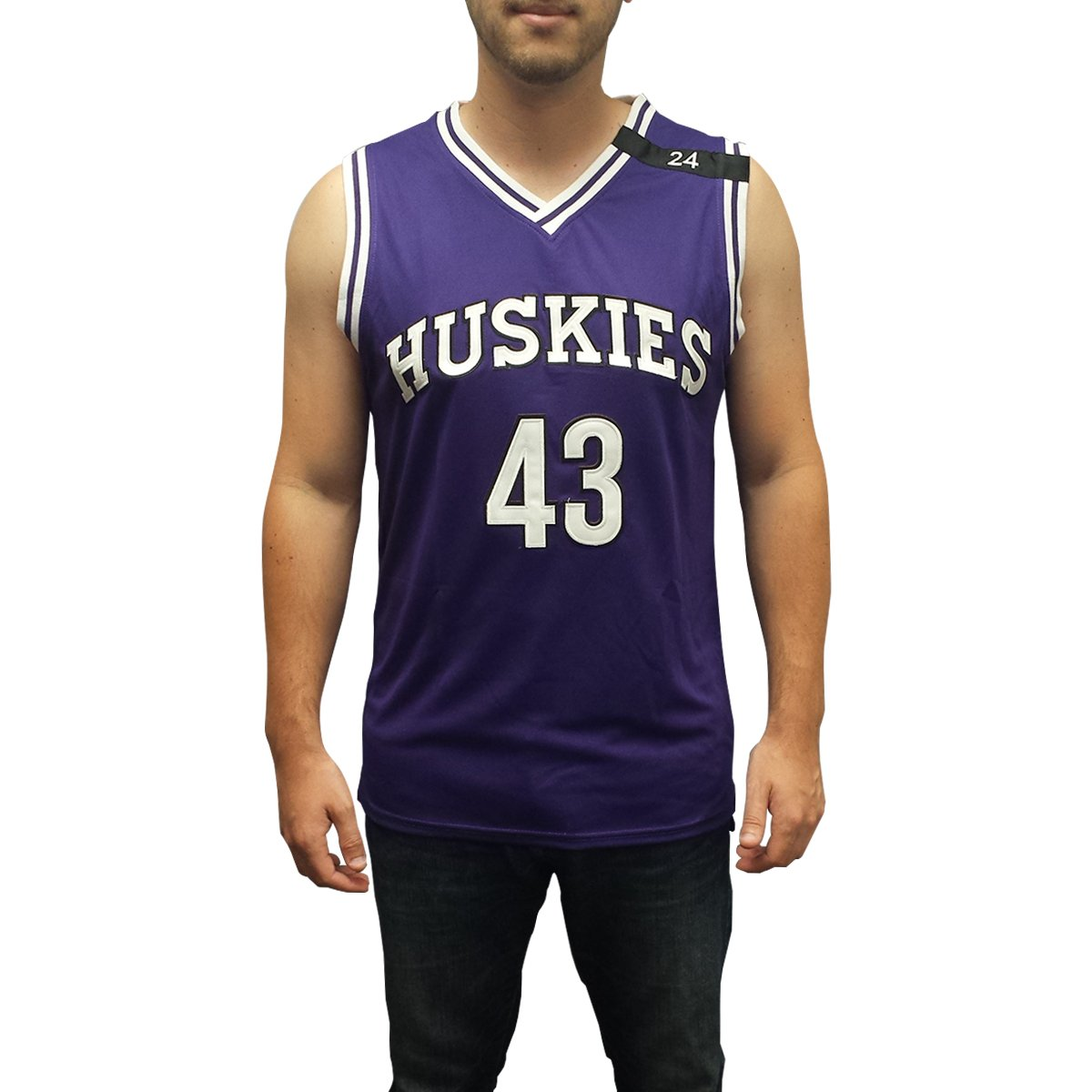 39aad05cd79 Amazon.com  Kenny Tyler  43 Huskies Purple Basketball Jersey The 6th Man  Costume Movie K.  Clothing