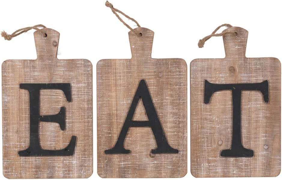 "Northbay Styles Eat Sign Wall Decor, Rustic Farmhouse Decoration for Kitchen and Home, Adorable Decorative Hanging Wooden Letters for Farmhouse Decor | Great for Dining Room Country Wall Decor 24"" x 13"""