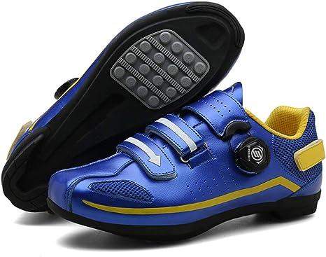 BHUDZ Zapatillas de Ciclismo MTB,con Suela de Carbono y Triple Tira de sujeción ademas de Puntera de Refuerzo,Zapatilla de Ciclismo Master, con Suela de Carbono: Amazon.es: Deportes y aire libre
