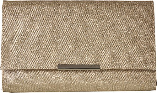 Jessica McClintock Women's Nora Large Envelope Glitter Clutch, Champagne, One Size by Jessica McClintock