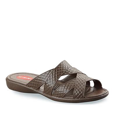 Amazon Com Okabashi Women S Cross Strap Sandals Slides