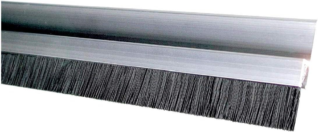 BawiTec B/ürstendichtung Streifenb/ürste 50mm 2000mm alu//ppn-schwarz h-Profil