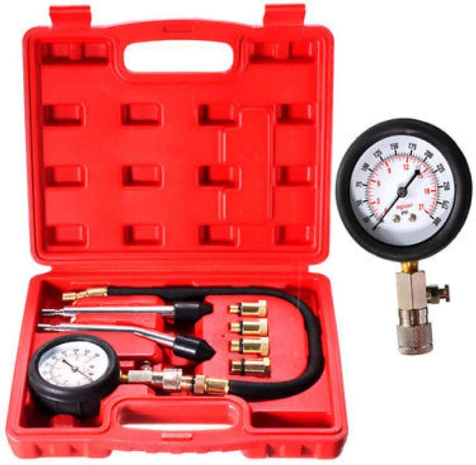 Shentesel Car Motorcycle Engine Cylinder Compression Tester Pressure Gauge Meter Tool Set