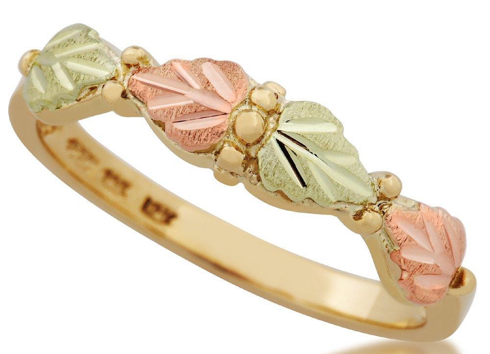 10k Yellow-gold Black Hills Gold Elegant Ladies Band Ring