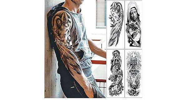 tzxdbh Gran Brazo Manga Tatuaje alas de ángel Paloma Jesús ...