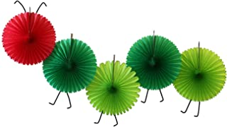 product image for 5-Fan Set of Caterpillar Themed 13 Inch Party Fans