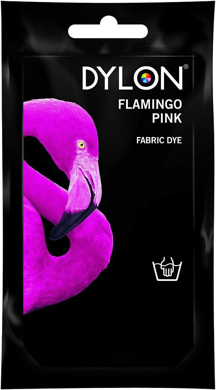 Flamenco rosa - ara tinte tela de algodón de lino de la mano ...