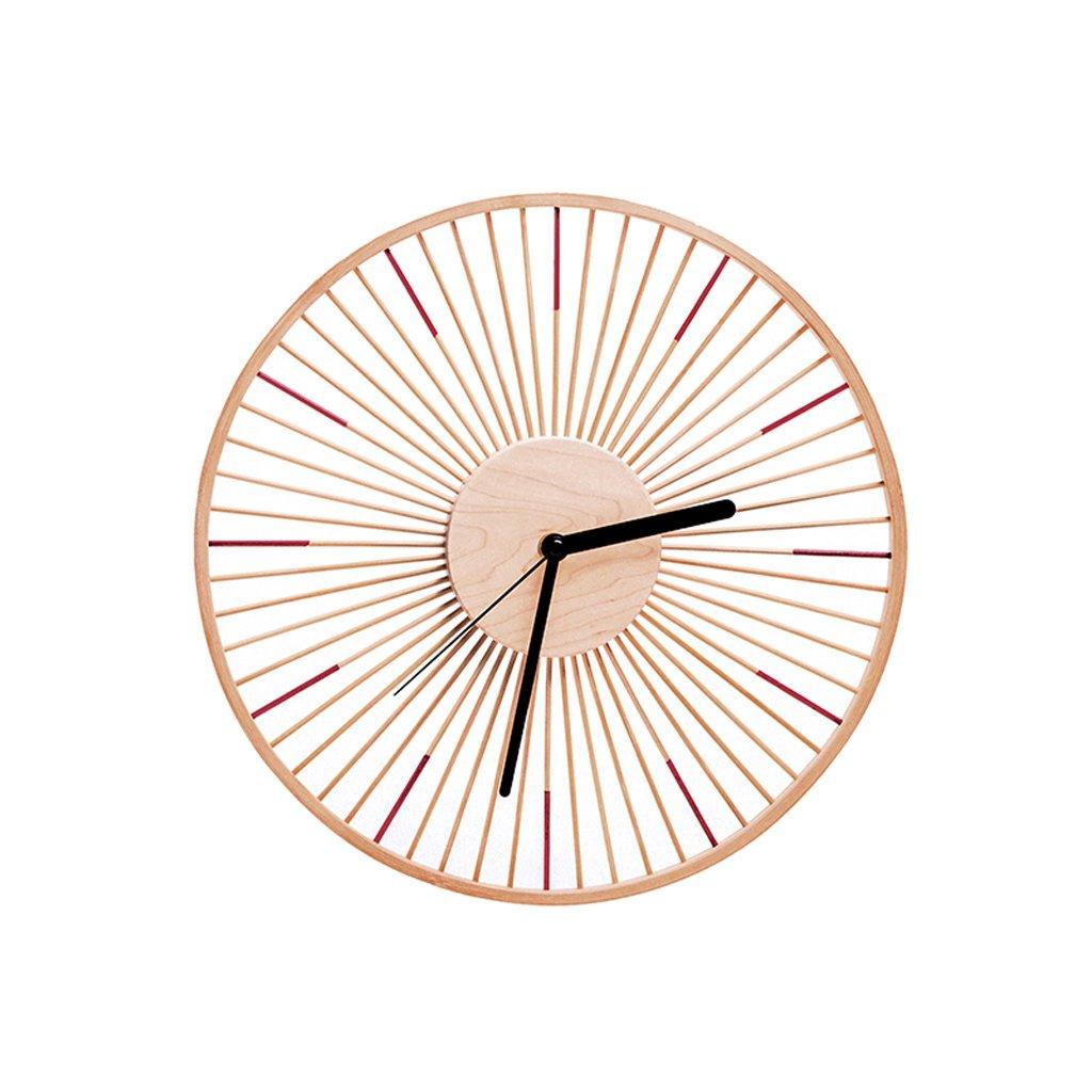 木製の壁時計現代中空カラフルな時計サイレントノンティックキッズウォールクロック付きスイープムーブメント B07SW9MM4R