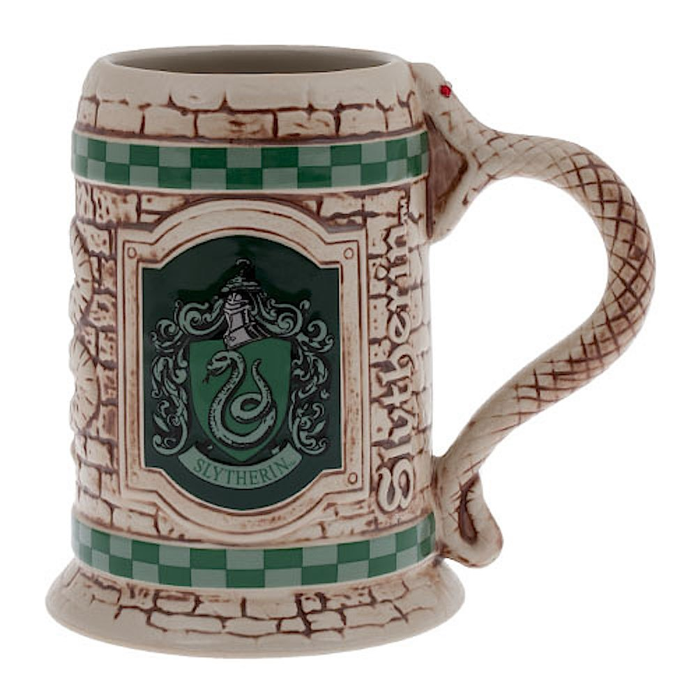 Wizarding World of Harry Potter : Sculpted Ceramic Slytherin Stein Mug Cup
