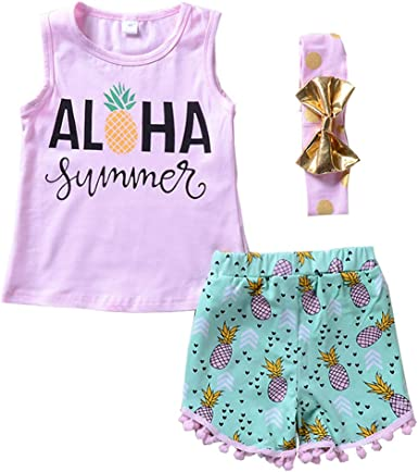 Younger star Toddler Girl Summer Clothes Vest Tops Tassels Shorts 2pcs Baby Girl Outfit Suit