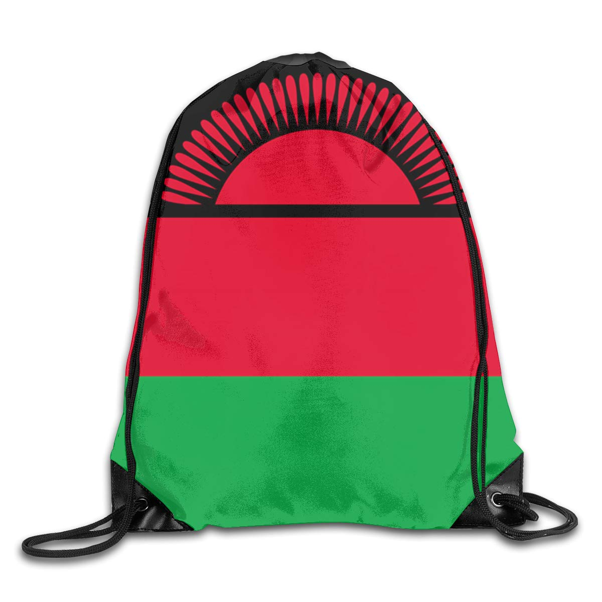 Flag Of Malawi Beam Mouth Backpack Pull Rope Shoulder Bag Outdoor Sports Leisure Bag