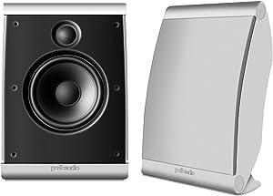 Polk Audio OWM3 Wall and Bookshelf Speakers | The Most High-Performance Versatile Loudspeaker | Paintable Grilles (Pair, White)