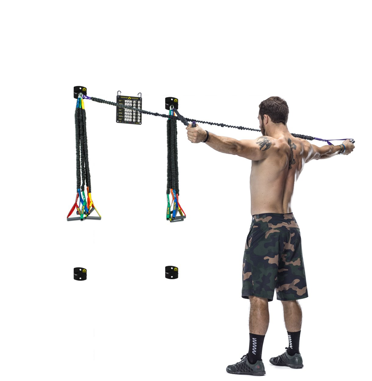 Wall Mount Attachment - Compatible with Crossover Cord Shoulder Resistance  Bands - Set of Four - Crossover Symmetry
