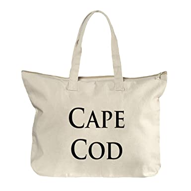 4279450417d0 Amazon.com  Cape Cod Canvas Beach Zipper Tote Bag Tote  Clothing