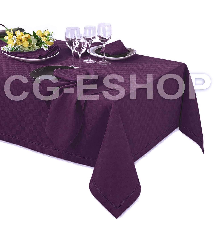 TOVAGLIOLI Viola 140x180 + 6 tov Confezioni Giuliana TOVAGLIA Jacquard Cotone Dama Quadretti 6 8 12 18 24 posti