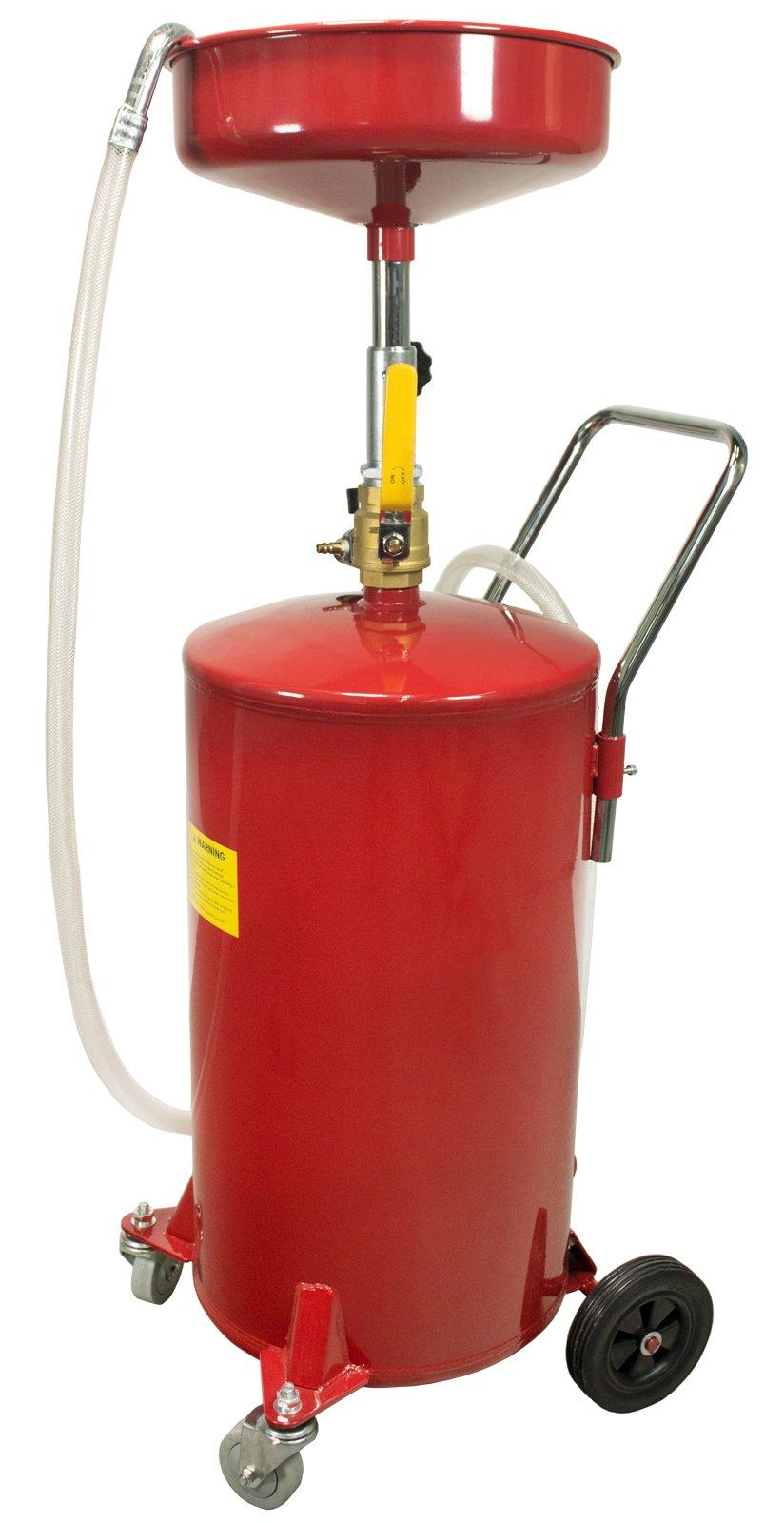 Dragway Tools 18 Gallon Oil Waste Drain Tank Pan for Lift Jack Hoist Shop Crane by Dragway Tools