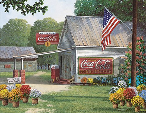 Springbok Puzzles - Coca-Cola Country General Store - 500 Piece Jigsaw Puzzle - Large 23.5 Inches by 18 Inches Puzzle - Made in USA - Unique Cut Interlocking Pieces