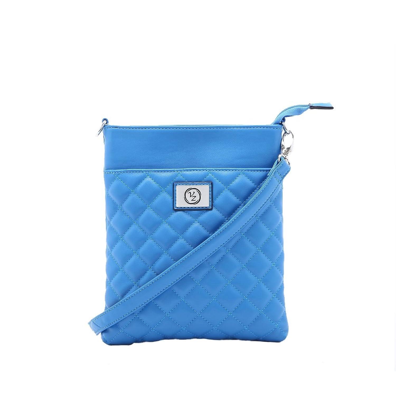 Designer Inspired Quilted Blue Fashion Side Bag