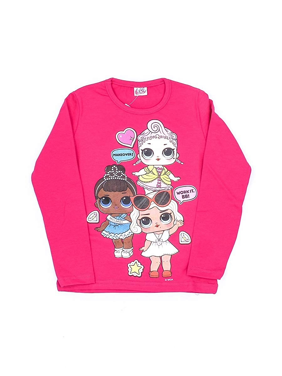 LOL Surprise T-Shirt Bambina 26010 Natale Manica Lunga Made in Italy