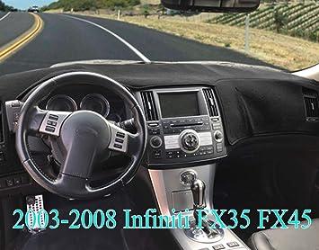 Grey JIAKANUO Auto Car Dashboard Carpet Dash Board Cover Mat Fit for Infiniti FX35 FX45 FX50 2003-2008 MR-040