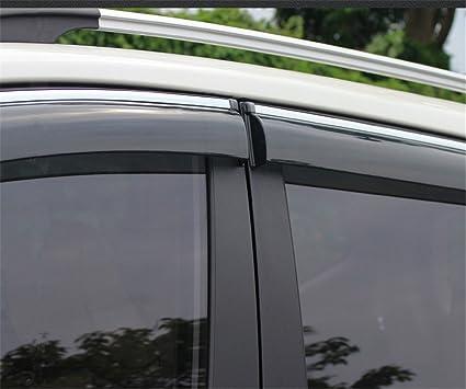 baodiparts 4Pcs plástico acrílico ventana lateral deflector visera ...
