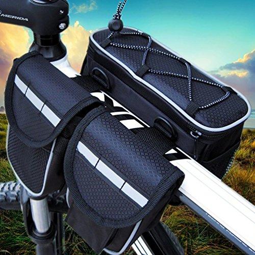 YiJee Fahrrad Rahmentasche Oberrohrtasche Fahrrad Lenker-Tasche Fuer Mountainbike Schwarz