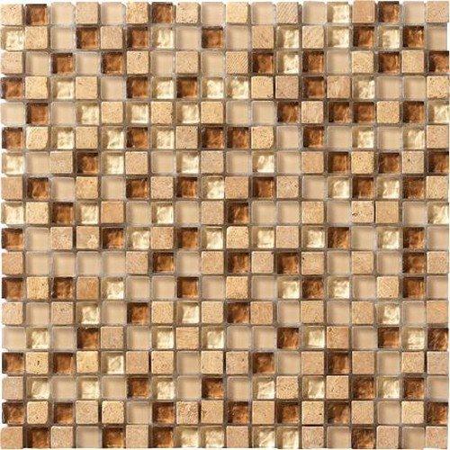Marazzi Crystal Stone Mesh Mounted Mosaic, 12 x 12, Breeze