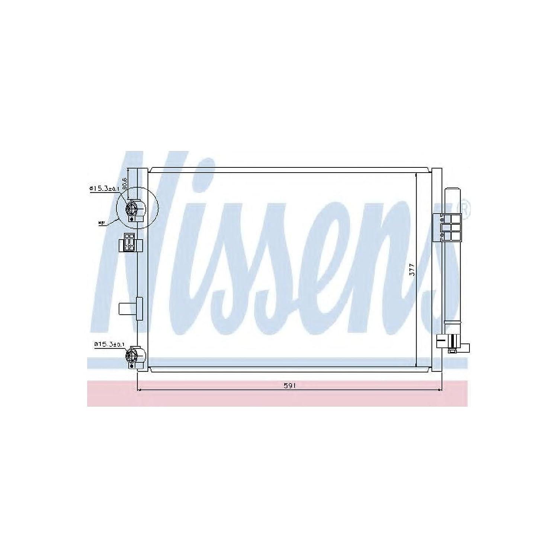 Nissens 940182 Condenser, air conditioning