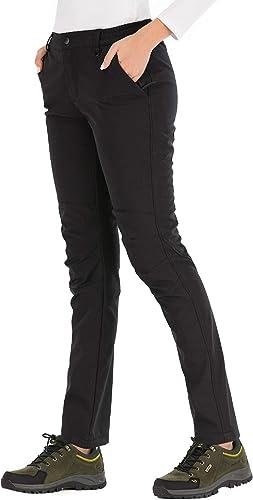 BenBoy Pantalones de Nieve Monta/ña Mujer Impermeables Invierno Calentar Pantalones Trekking Escalada Senderismo Esquiar Softshell
