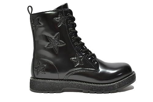 Anfibi stivaletti nero scarpe donna