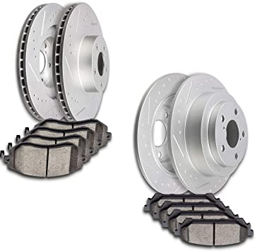 2005 2006 for Saab 9-2X Front /& Rear Brake Rotors and Pads