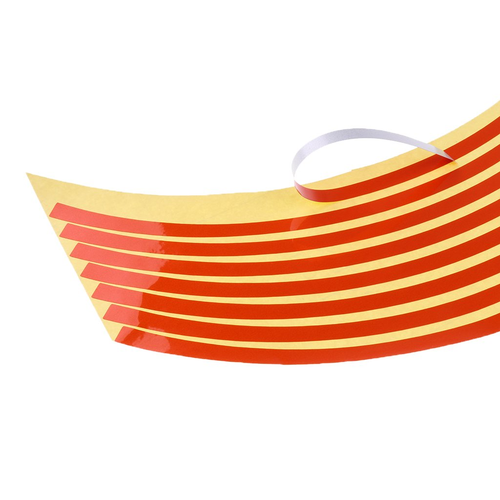 Silver Homyl Reflective Rim Tape Wheel Stripe Decal Trim for Motorcycle wheels 17 Car wheels 16-18