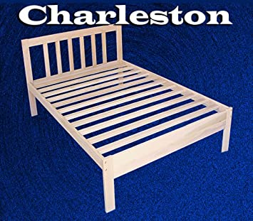 charleston solid hardwood platform bed frame twin size