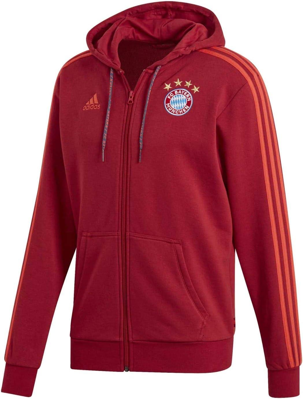 Maroon 2019-2020 Bayern Munich Full Zip Hoody