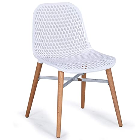 Amazon.com: TLMYDD Modern Minimalist Hollow Chair Stylish Restaurant ...