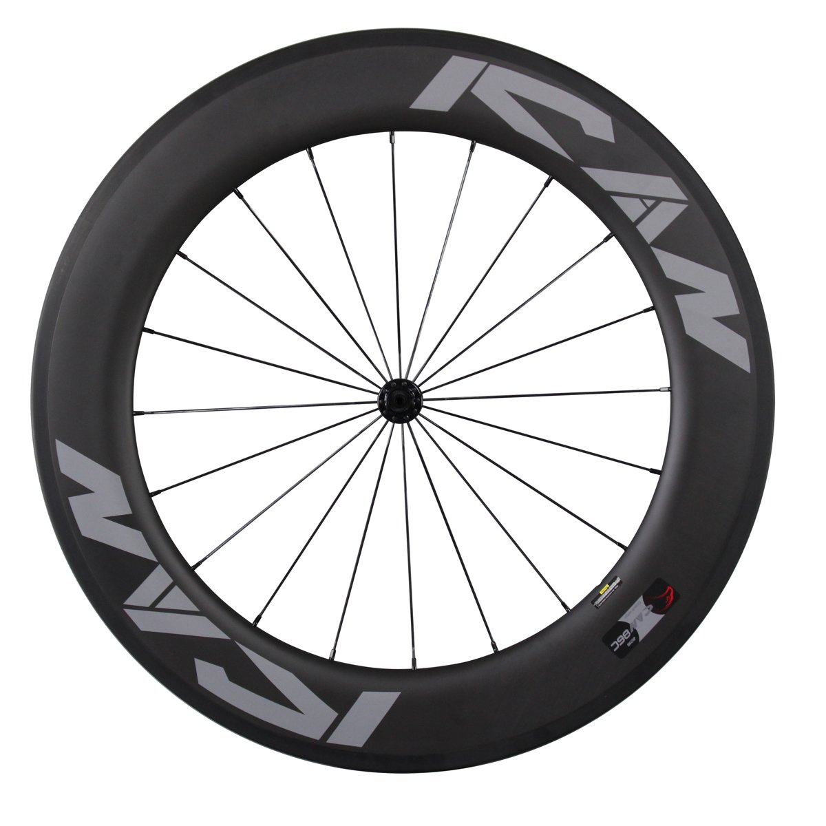 ICAN 86 mm道路カーボンホイールセットクリンチャーホイールReadyバサルトブレーキサーフェスリムPowerway r36ハブ B01E6U9GZY Front wheel-20 holes Front wheel-20 holes